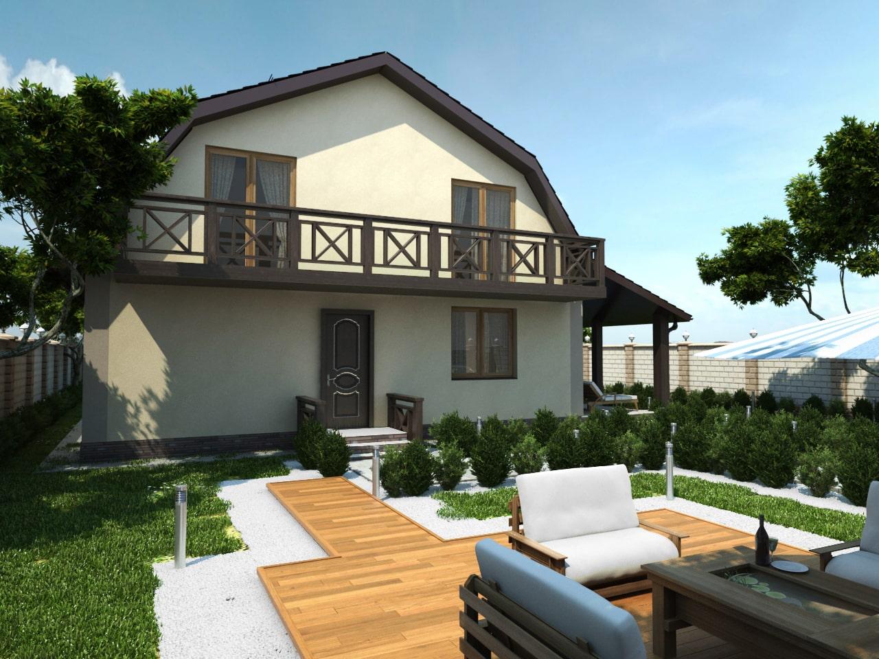 Дом с мансардой-1
