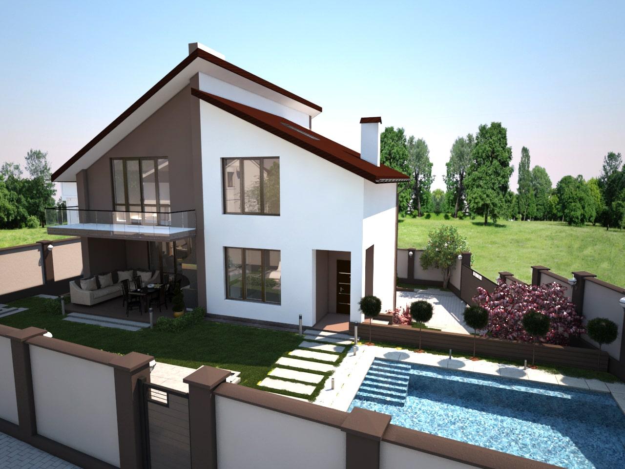 Двухэтажный дом -2