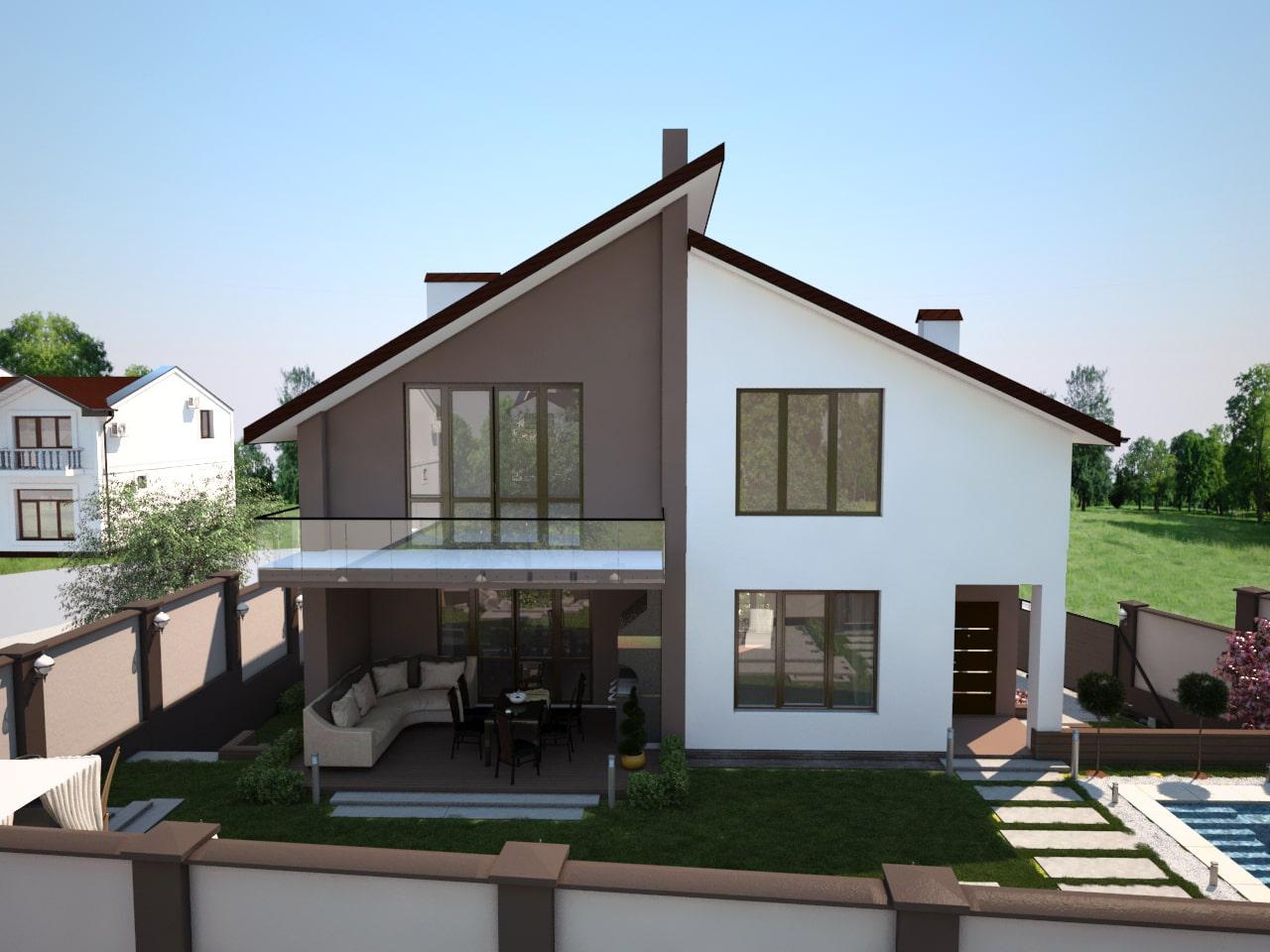 Двухэтажный дом -3