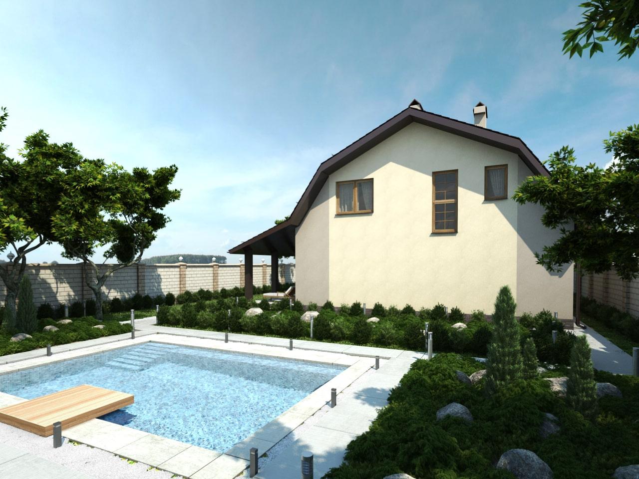 Дом с мансардой-2